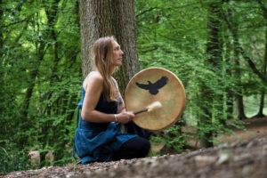 Shaura Hall shamanic drum
